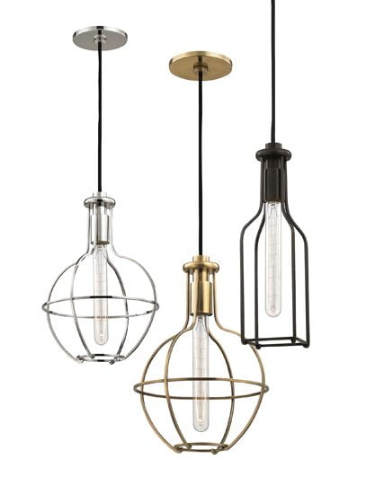 Colebrook pendants from Hudson Valley Lighting.
