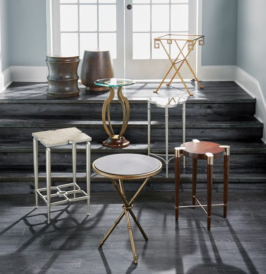 Bassett Mirror Company's collection of occasional tables.