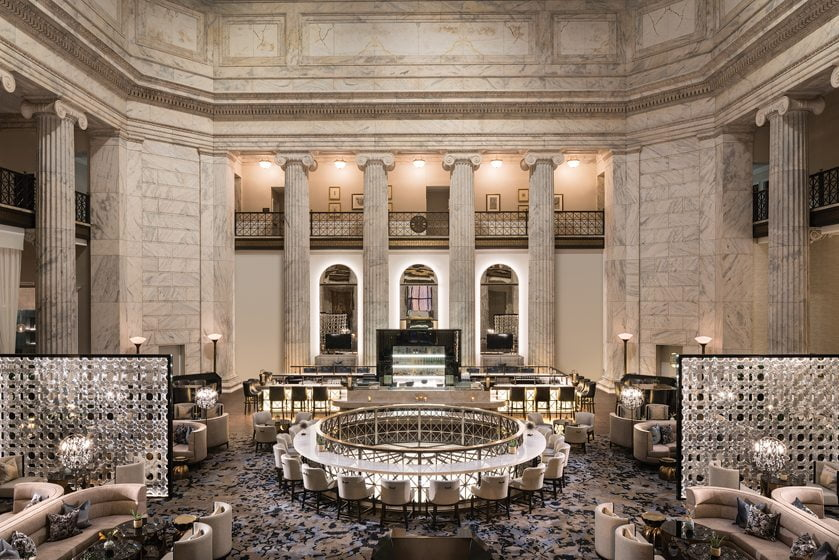 The lobby of the Ritz Carlton, Philadelphia.