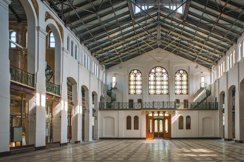 The restored main hall of the Smithsonian Arts and Industries Building.
