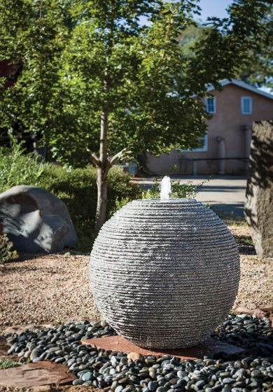 Stone Forest's Ribbed Sphere Fountain.