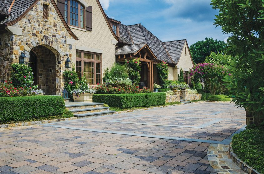 McHale Landscape Design enhanced the charm of a Tudor-style home. © John Spaulding