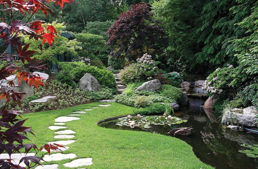 An irregular stone path by Zen Associates, Inc.