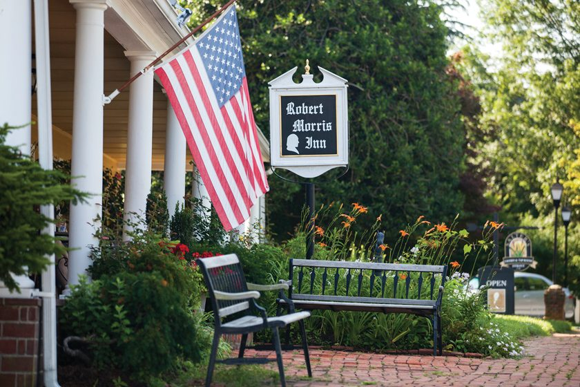 George Washington once supped at the venerable Robert Morris Inn.