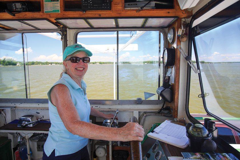 Judy Bixler runs the historic Oxford-Bellevue Ferry.