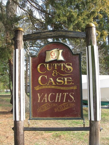 Cutts & Case Shipyard builds and repairs yachts. © Mike Moore