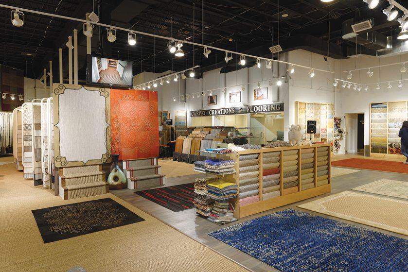 The Carpet Creations showroom.