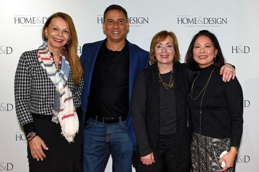 Helena Sagart, Carpet Creations' Fred Jamal, Sheri Zaitz-Blotner, Arlene Bache.