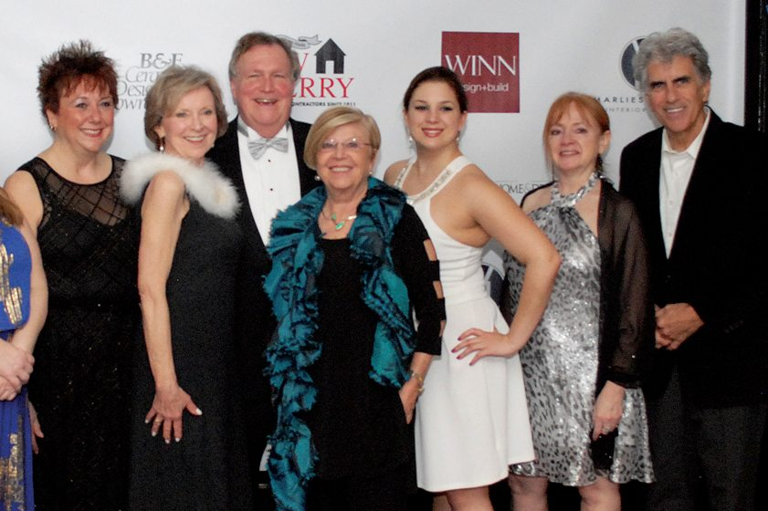 Debbie Harp, Jeanne Blackburn, publisher Tod Herbers, Marlies Venute, Lauren Preller, Debbie Cain, John Petro.