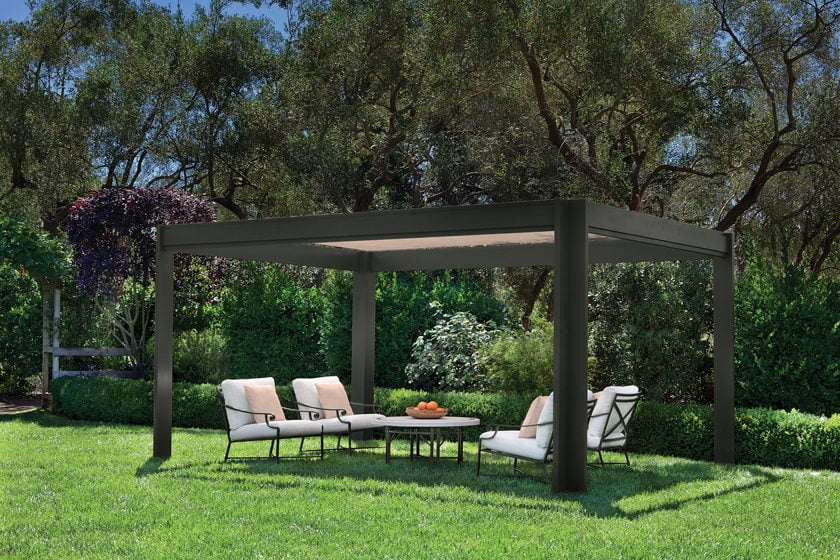 Belmont, a fiberglass pergola from Brown Jordan.