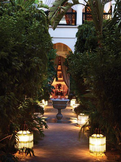 Outside L'Hôtel Marrakech.