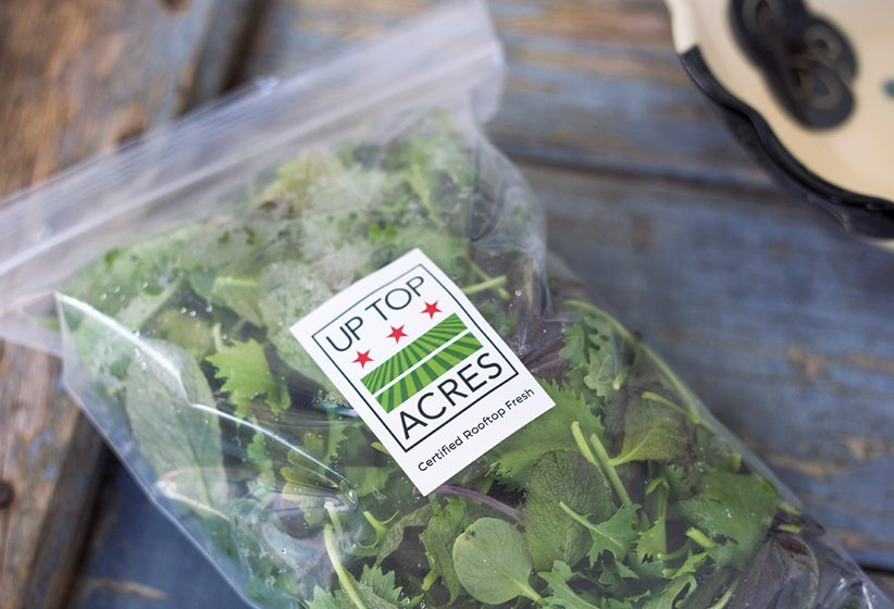 Up Top Acres offers packaged greens to consumers.