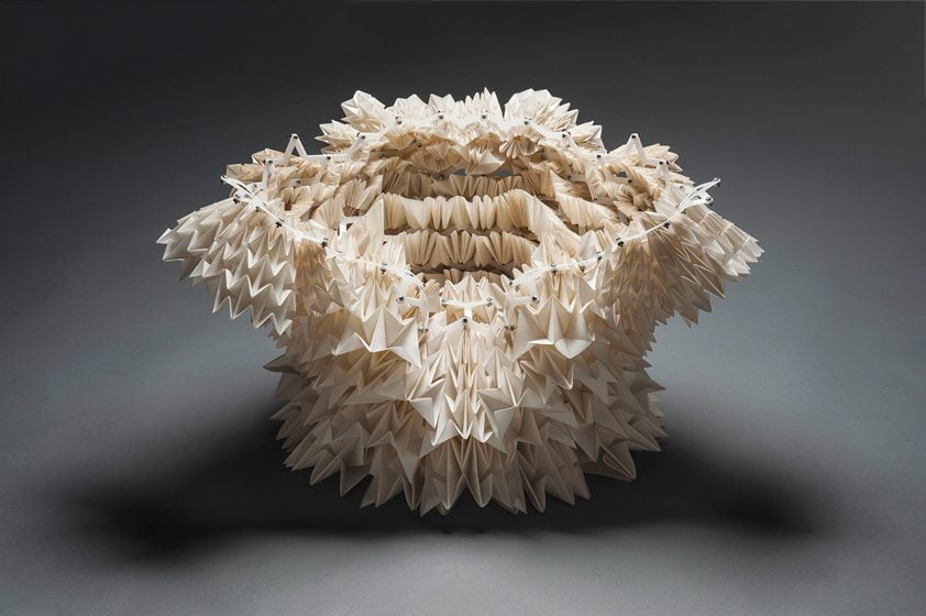 Legacy, a textile assemblage by Annet Couwenberg at the Baltimore Museum of Art, explores the intersection of art and science.