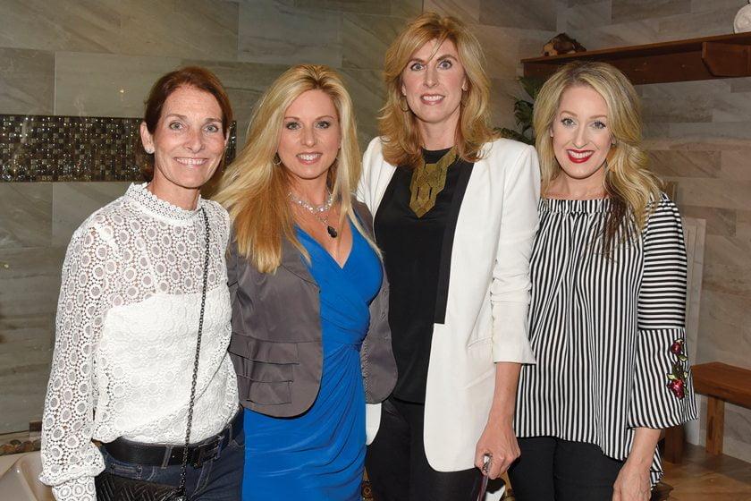 Wendy Lehew, Home & Design's Mechelle Clements, Erika Bonnell, Jane Gianarelli.