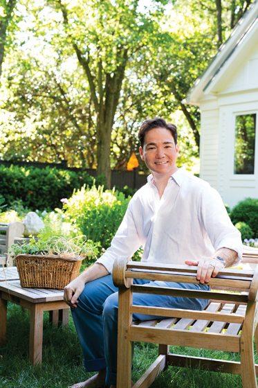 Josh Hildreth, shown here in his garden.