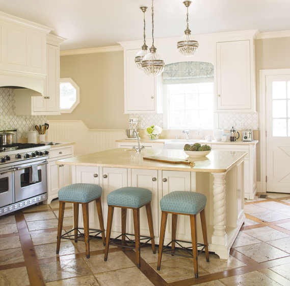 Four Hands pendants hang above the kitchen island.