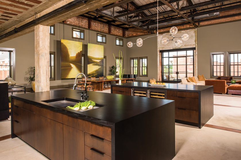 Industrial Edge: Kitchen Design: Paul Bentham, Jennifer Gilmer Kitchen & Bath, Chevy Chase, Maryland.