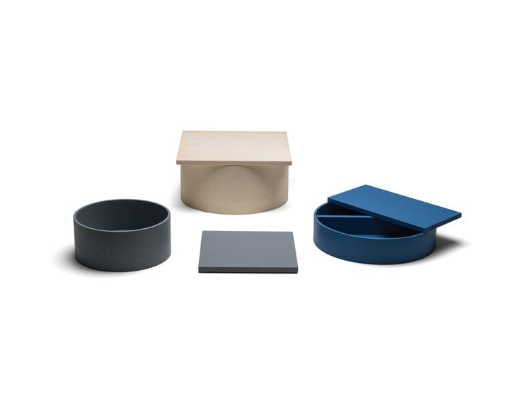Design Within Reach displayed his wooden boxes and trays during NYCxDesign in 2017.