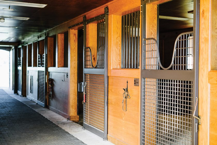 Lucas Equine Equipment outfitted four custom-built horse stalls beneath the home.