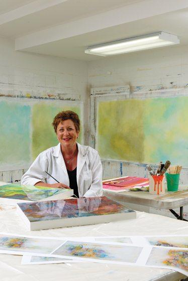 Tureson in her Oak Hill, Virginia, studio. Photo Bob Narod.