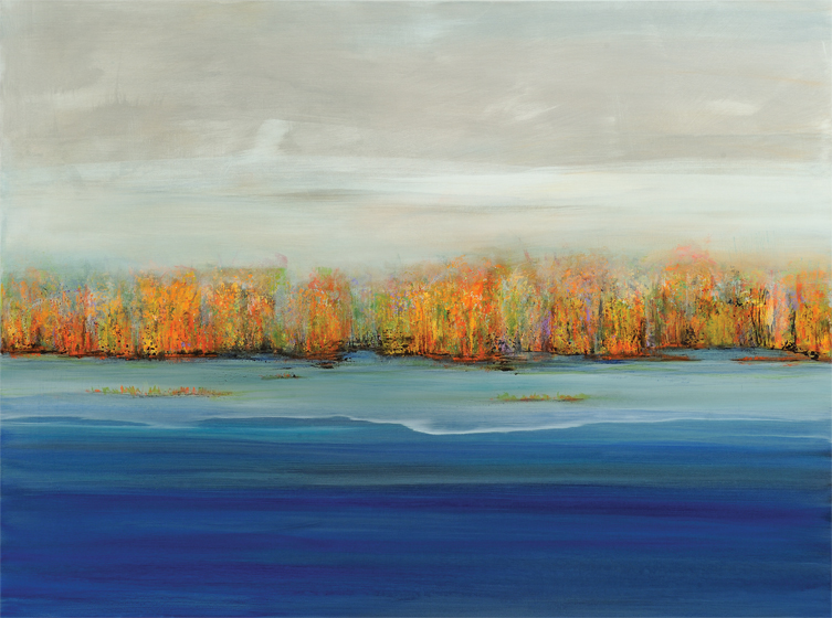 Lisa Tureson creates serene landscapes, such as