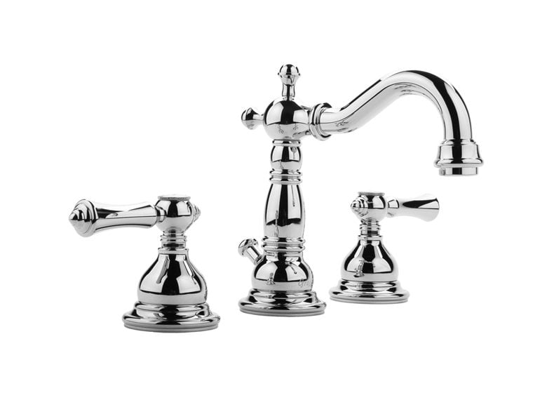 Graff's Nantucket collection includes the Widespread Lavatory Faucet.