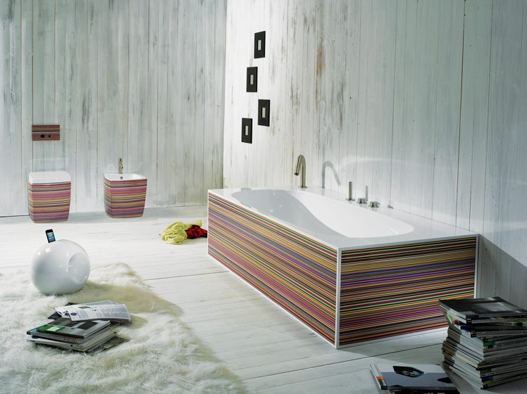 The Rainbow Tub, part of the Artisan Ceramics Collection from Hastings Tile & Bath.