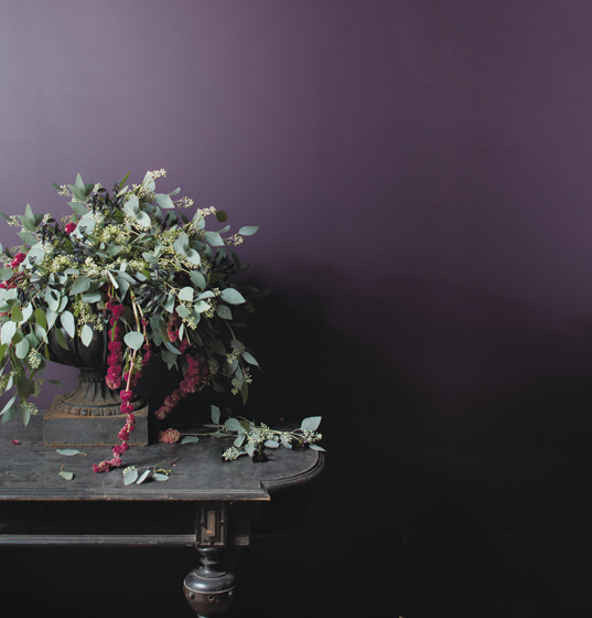 Thistle, a deep purple hue, is part of Benjamin Moore's Century collection.