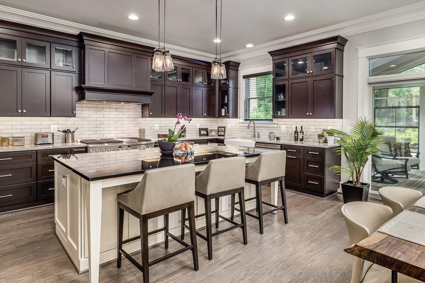 DESIGN & ARCHITECTURE, CUSTOM HOME, SINGLE LOT—under 3,000 square feet: LAKEWOOD DRIVE, Vienna, Virginia. Miller and Smith, Eisen Group. Photography: Robert Miller