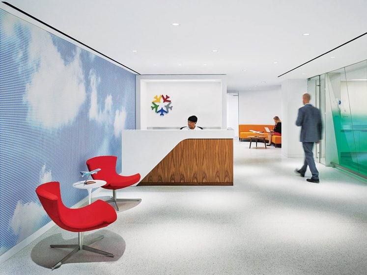 WORK: Perkins+Will. Ken Wilson, ASID. Project: Airlines For America Headquarters. Design Team: Laura Morris, David Cordell, Haley Nelson, Thomas Gregory, Brittany McNairy. Photography: Halkin Mason.
