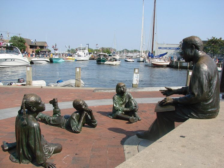 Sights to behold include the Alex Haley Memorial, which commemorates Kunta Kinte's landing in Annapolis Harbor.