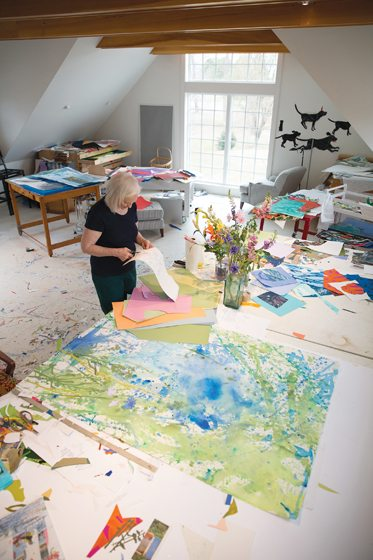 Artist Nancy Hammond in her studio.