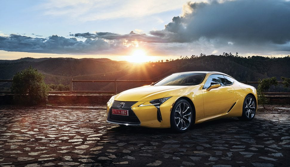 The 2018 Lexus LC performance coupe.