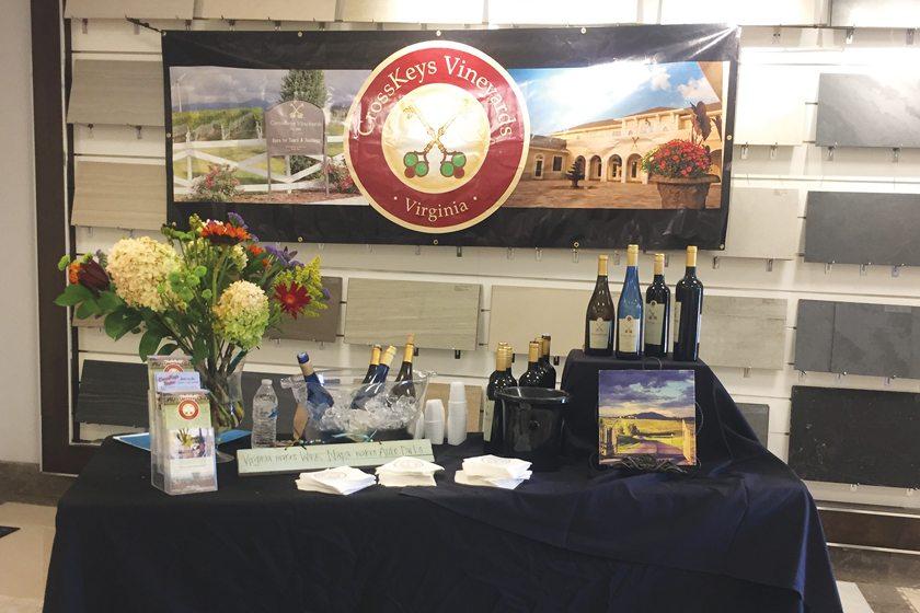 Virginia's Crosskeys Vineyards hosted a wine tasting.
