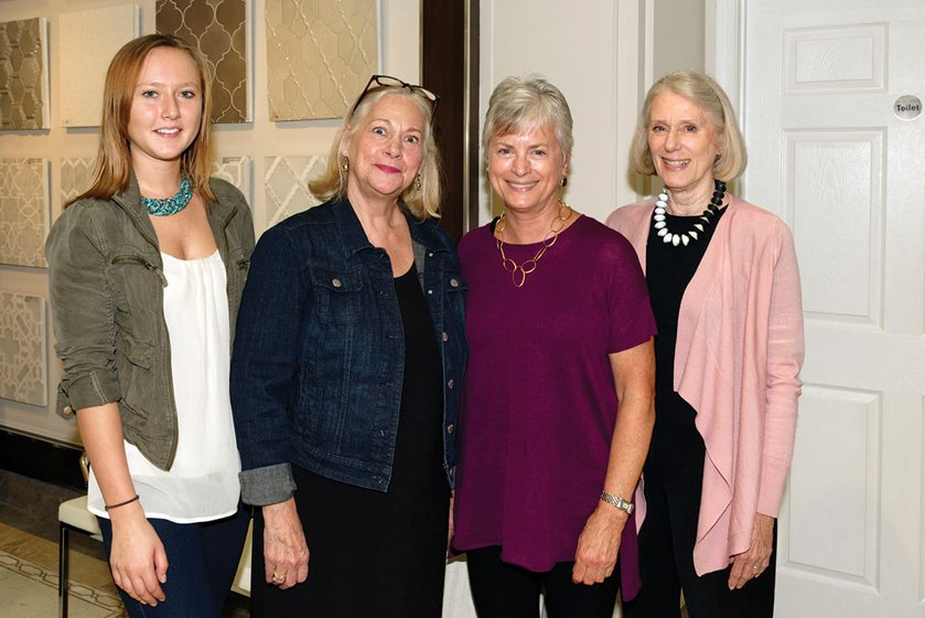 Katie Douthitt, Eileen Naughton, Susan Gulick, Nancy Hardy.