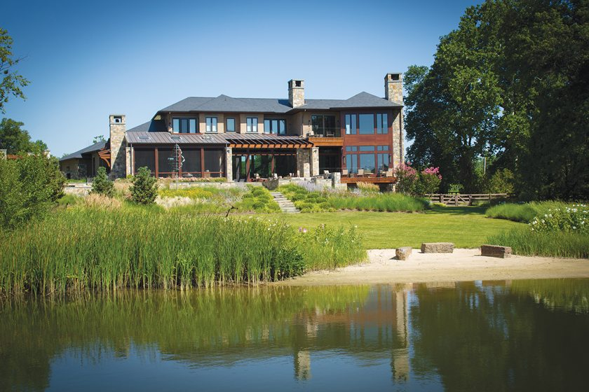 A spectacular Annapolis home built by Pyramid embraces views of Harness Creek.