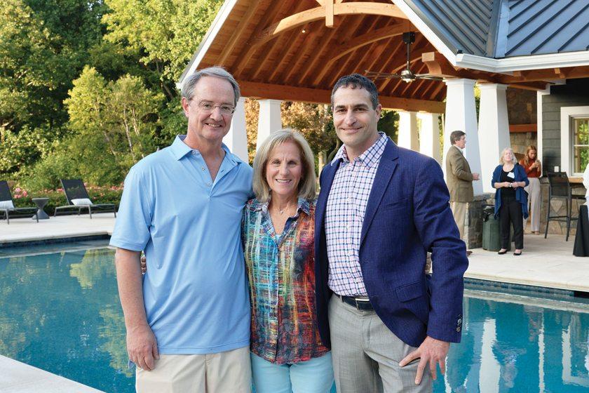 Tom Stout, Nancy Stout, Surrounds's Howard Cohen.