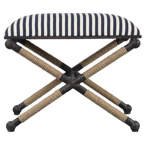 The Braddock Small Bench, designed for Uttermost.