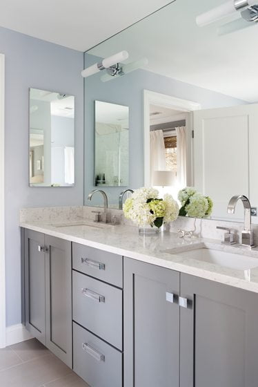 A double vanity in the master bath.