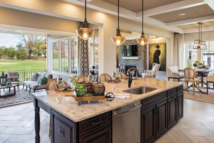 An open plan defines Aldie, Virginia's Oakton at Willowsford, Detached Home over $1,400,000. © Maxine Schnitzer