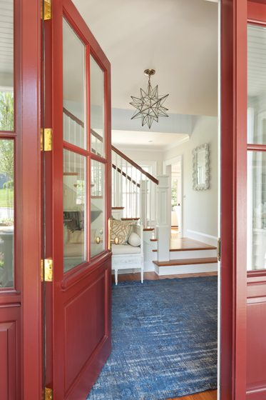 The new front door opens into a spacious foyer.