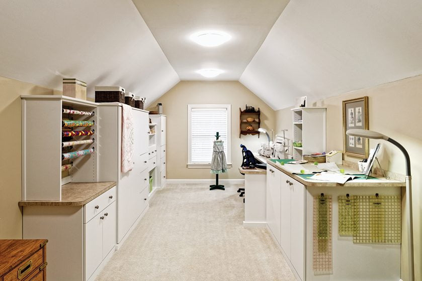 A highly efficient sewing room designed by Mary Frazer of Closets by Design. © Bob Narod