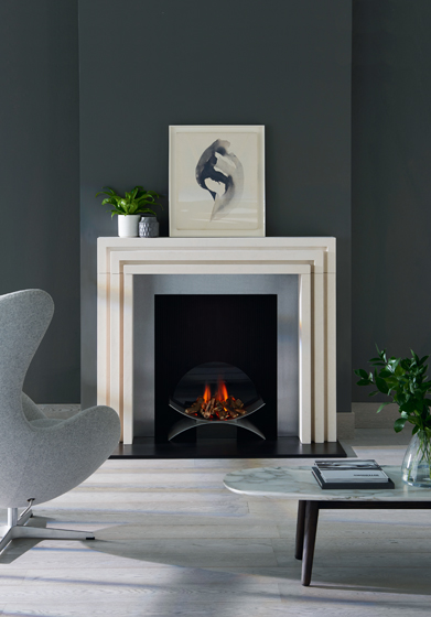 The Beckett fireplace, designed by Kelly Hoppen for Chesney's. © Anthony Parkinson