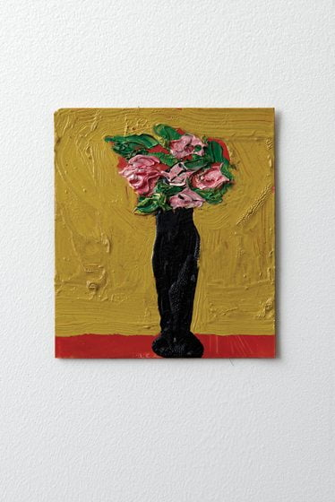 A flower painting by artist Niyaz Nadjafov was purchased in Paris.