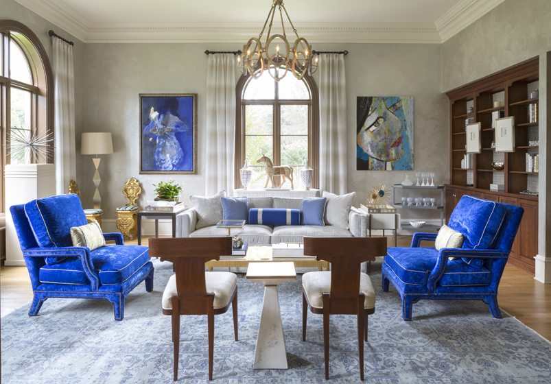 The Study Royale by Lorna Gross Interior Design.