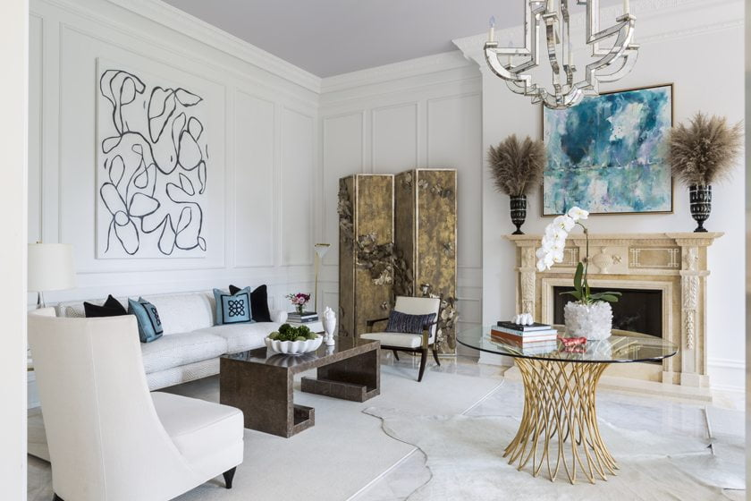 The Living Room by Margery Wedderburn Interiors, LLC.