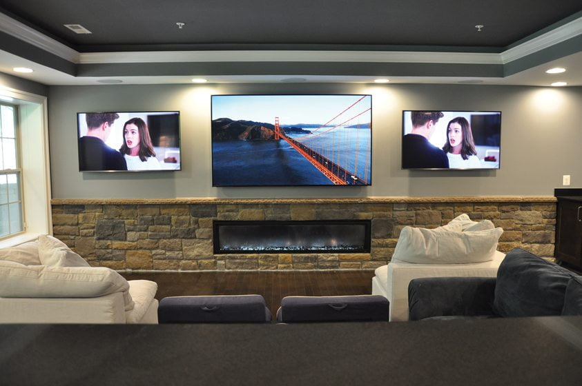 A Highland, Maryland, basement renovation by Bluehouse Architecture. Photo: Melissa Clark