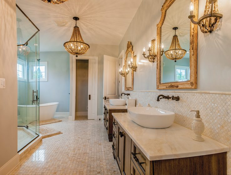 A master bath in Mueller Homes' Greenspring Valley Luxury Estate. Photo: Pete Albert