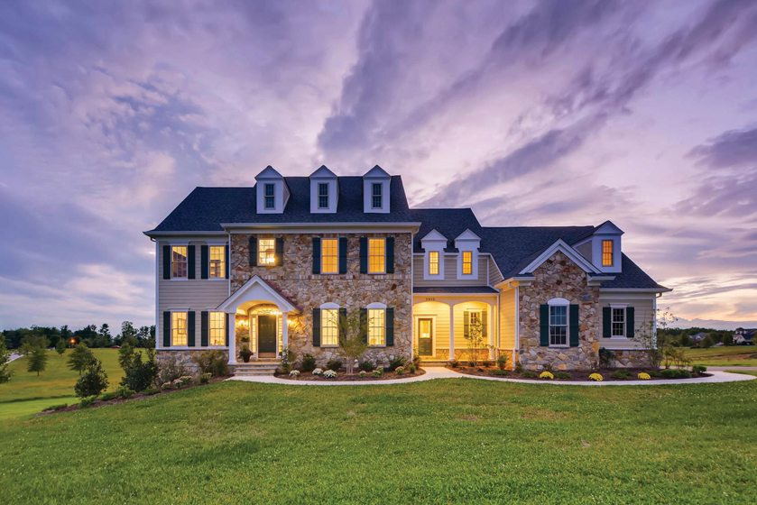 Stone House Builders' Stoney Brook Model in Phoenixville, Maryland.