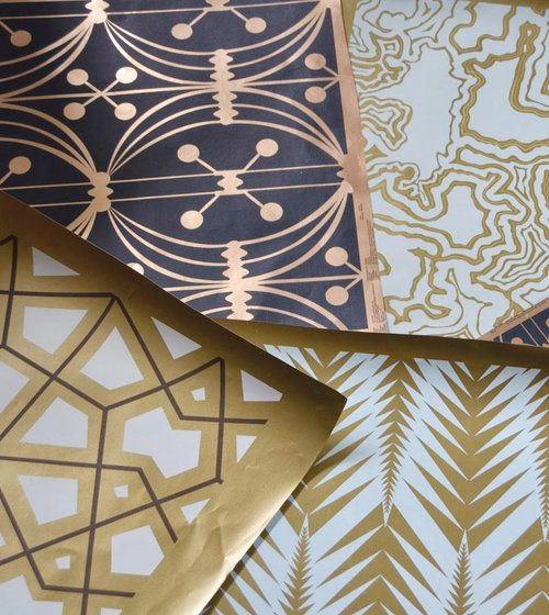 The Bridget Beari Paper wall-covering collection.